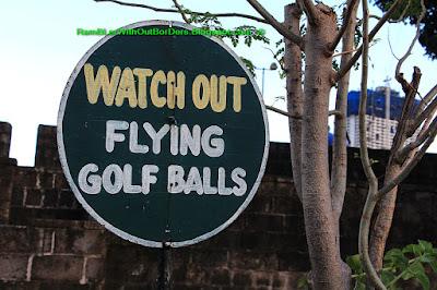 Warning sign, Baluarte de San Andres, Intramuros, Manila, Philippines