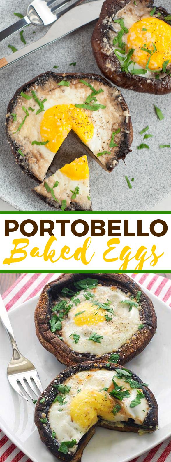 Portobello Eggs #vegetarian #healthy