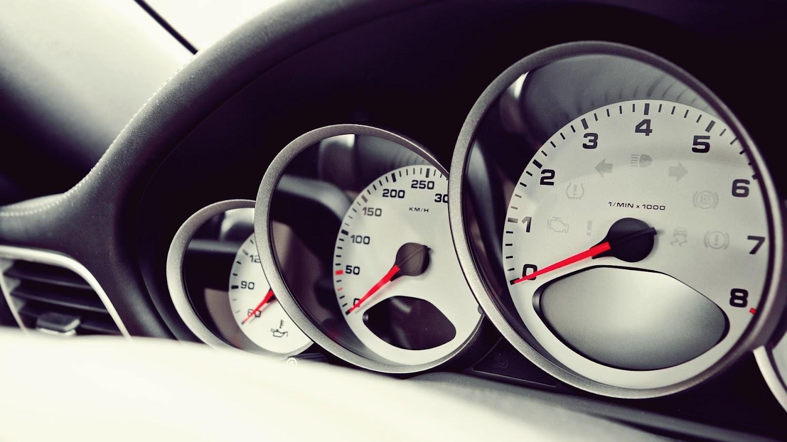 Porsche Speedometers Close Up Hd Wallpaper Hd Car Wallpapers