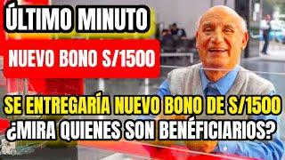 Bono de 1500 soles: Para aportantes