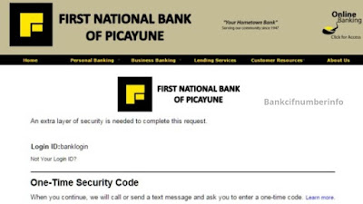 First National Bank of Picayune online banking