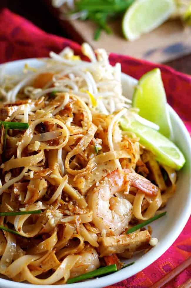This is a very traditional recipe for those who like truly authentic Thai street food as the dried shrimp flavour is stronger than what you get in westernised Pad Thai recipes. For something more like what you get at mainstream Thai restaurants, use this Everyday Pad Thai recipe.