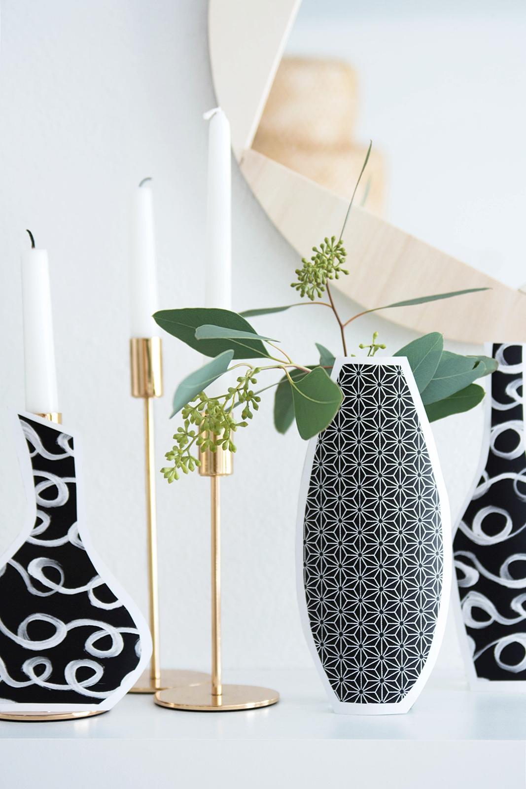 DIY Quickie: Vasen aus Geschenkspapier