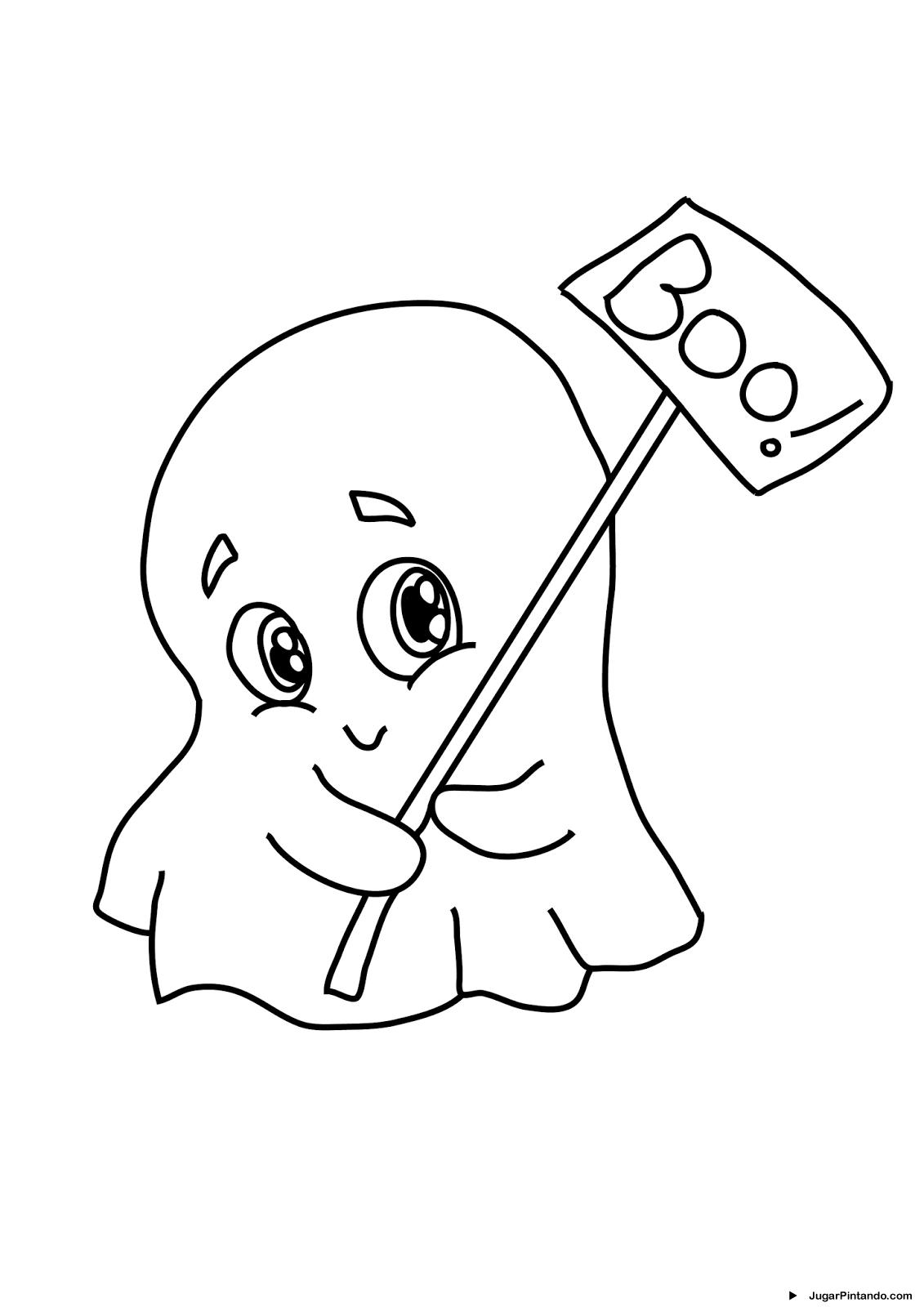 fantasmas de halloween para colorear