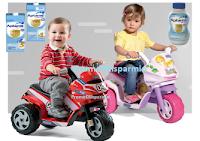 Logo Aptamil ti regala come premio sicuro la moto elettrica Peg Pérego Mini Ducati o Mini Princess