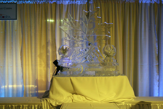 Ice Sculpture from Shaw Conference Centre