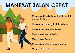 Beragam manfaat kesehatan jalan cepat