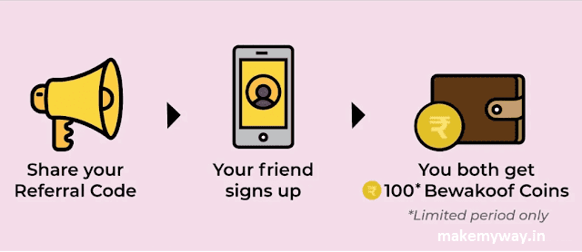 "Bewakoof Referral Code ""BUYTPQGD"" : Earn 100 Coins Per Refer"