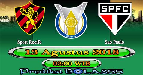 Prediksi Bola855 Sport Recife vs Sao Paulo 13 Agustus 2018