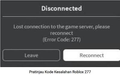 Cara Memperbaiki Roblox Error Code 277