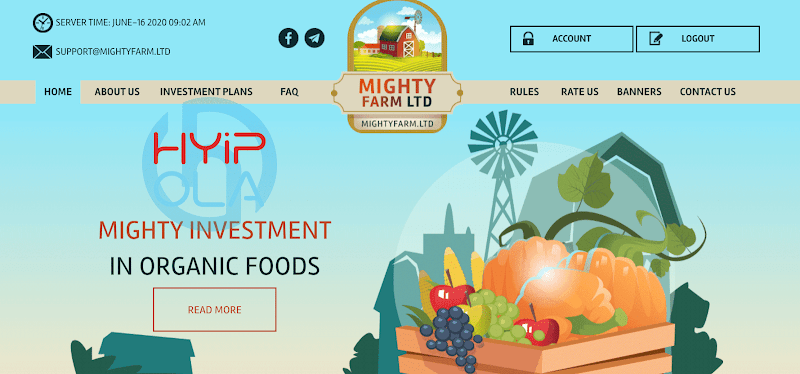 [SCAM] Review MightyFarm - Dự án đầu tư vào nông nghiệp rất tốt - Lãi up 1.6% hằng ngày