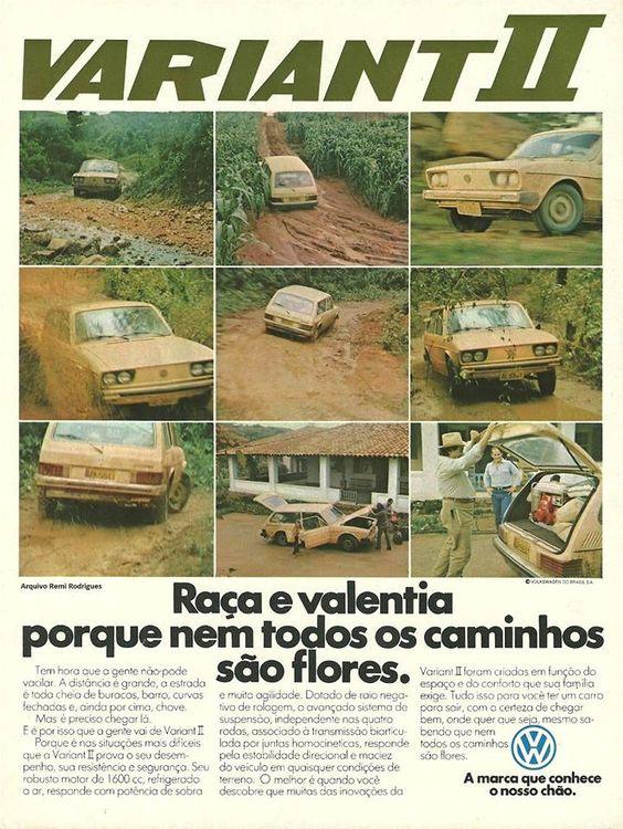 Propaganda da Variant II em 1978 promovendo a potência do automóvel