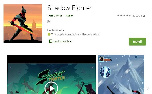 best offline fighting games for android under 100mb