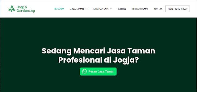 Tampak website Jogja Gardening, foto: screenshots