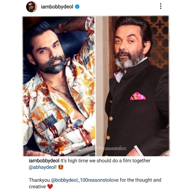Bobby Deol would like to do a film with his cousin, Abhay Deol and the Internet agrees!