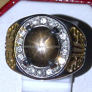 Cincin Batu Black Safir Star - ZP 779
