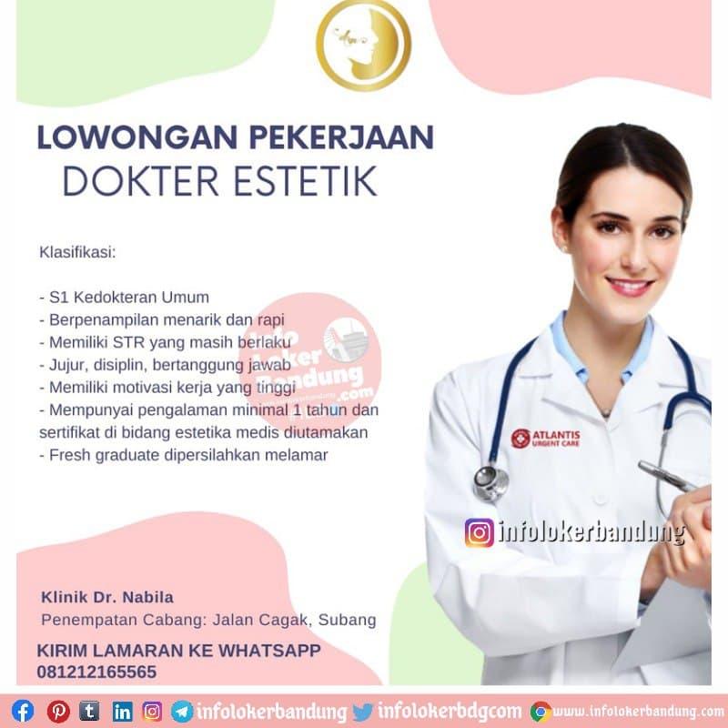 Lowongan Kerja Klinik Dr. Nabila Cimahi Februari 2021