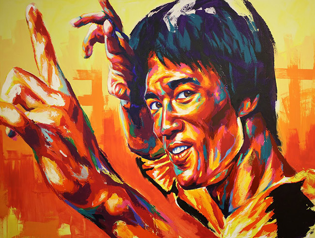 Detour aka Thomas Evans (US) - Bruce Lee art collection @ YellowMenace