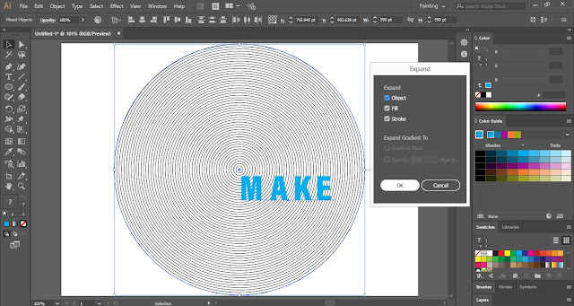 Fill Text with Lines in Adobe Illustrator