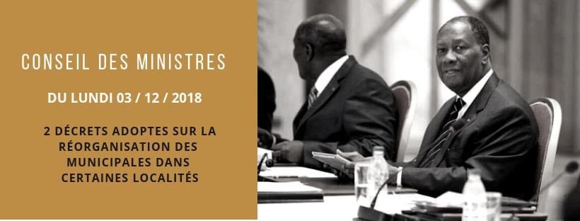 2 décrets portant réorganisation des élections partielles régionales dans certaines régions et commune de la Côte d'Ivoire.