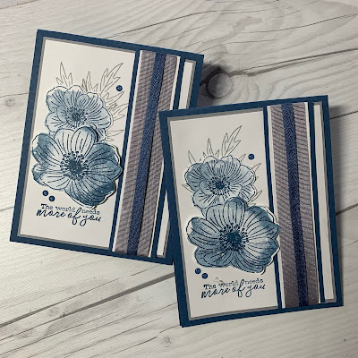 Handmade greeting card using Stampin' Up! Back To Back Blooms Stamp set