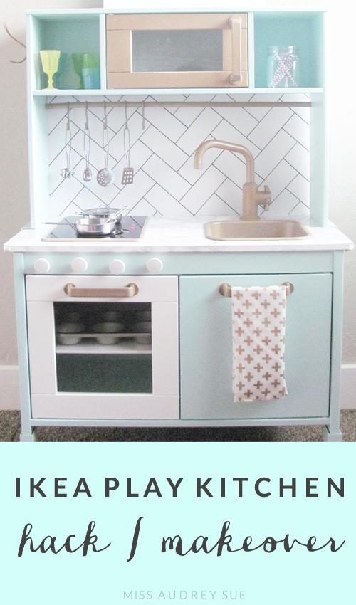Ikea Duktig Play Kitchen Makeover/ | Miss Audrey Sue on 2013 ikea kitchen planner, small apartment kitchen ideas, yellow kitchen ideas,