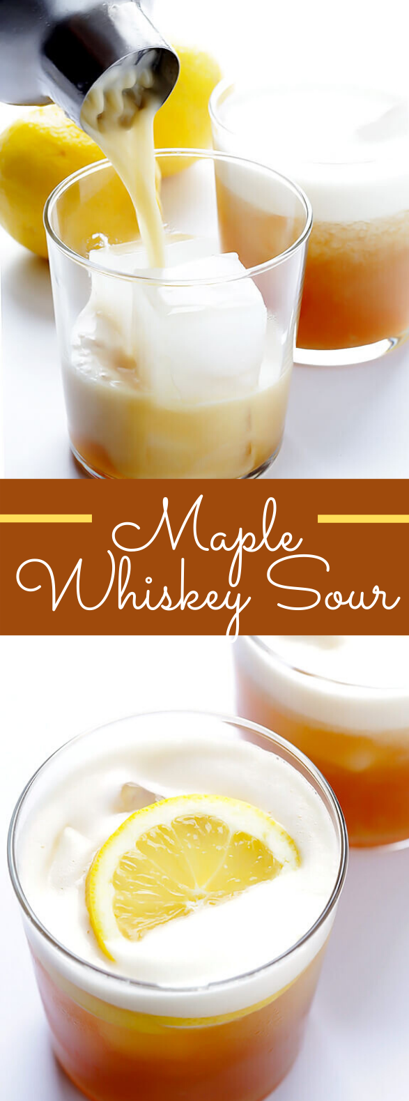 MAPLE WHISKEY SOUR #drinks #cocktails #whiskey #partydrink #vodka