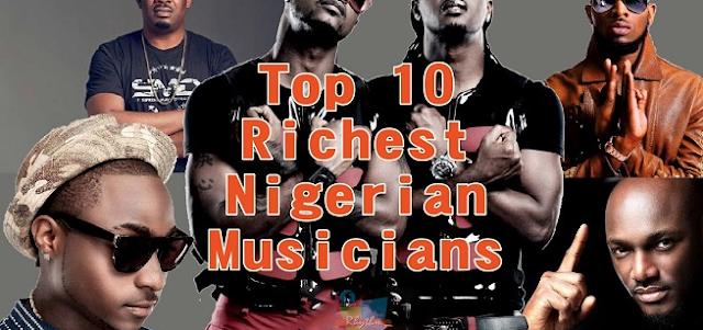 10 Richest Musicians in Nigeria