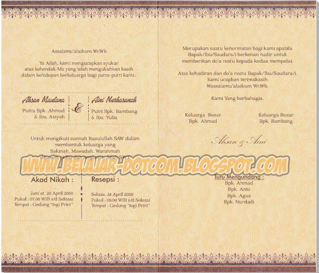Download Settingan Blanko Undangan ERBA 2503 (88203) Format Cdr
