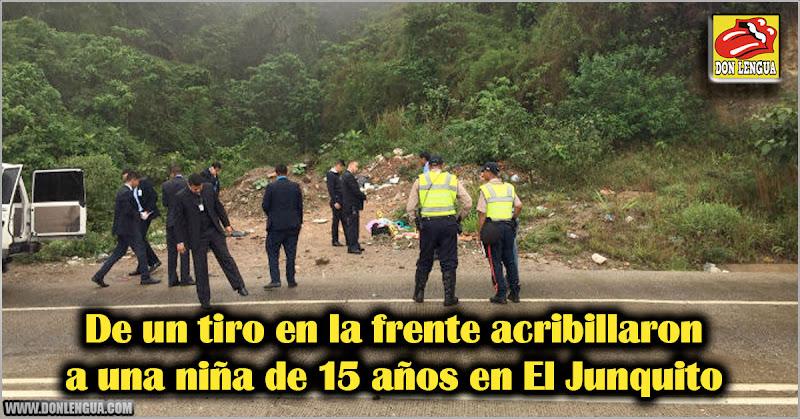 De un tiro en la frente acribillaron a una niña de 15 años en El Junquito