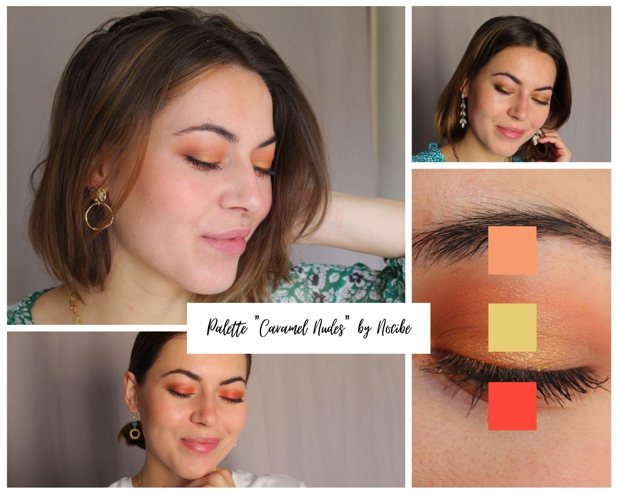 Portraits idées maquillage avec palette Caramel Nudes