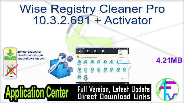 Wise Registry Cleaner Pro 10.3.2.691 + Activator