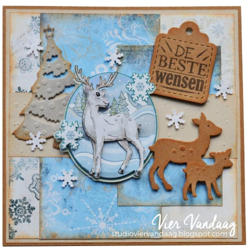 Kerstkaart Yvonne Creations Winter Time