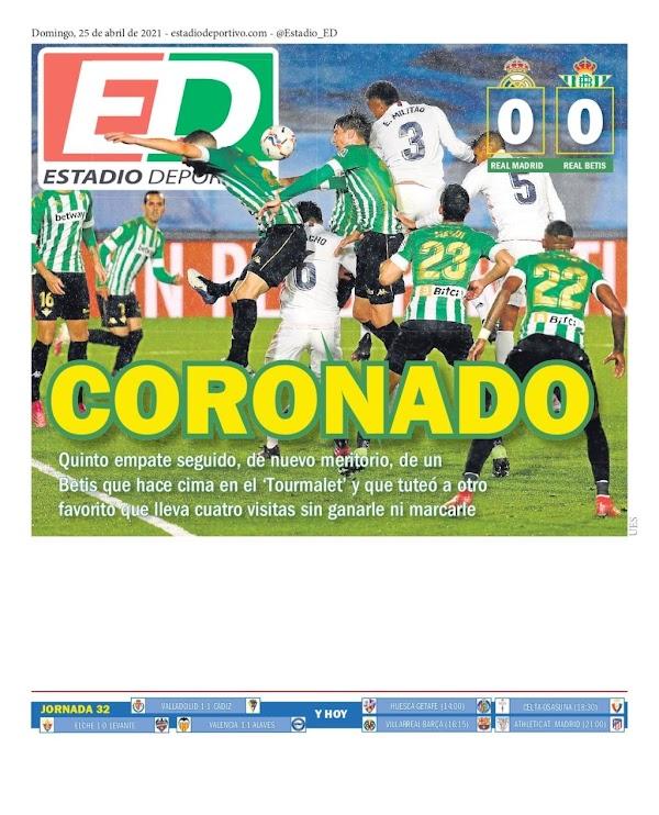 """Betis, Estadio Deportivo: """"Coronado"""""""