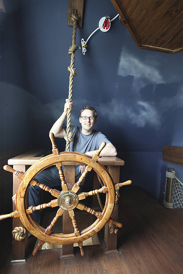 Pirate Ship Room Climbing Cave And Golf Simulator Make A