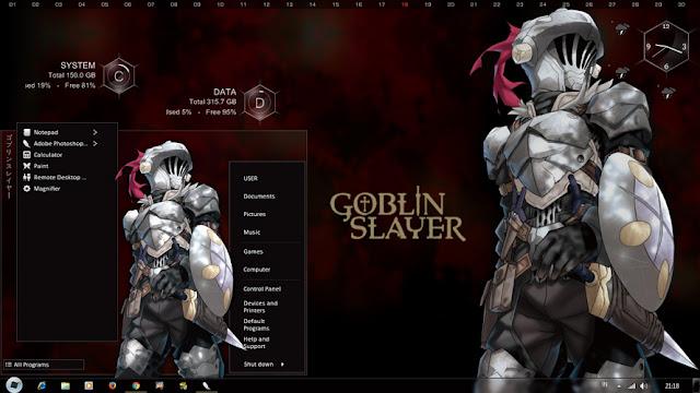 Windows 7 Theme Goblin Slayer by Bashkara