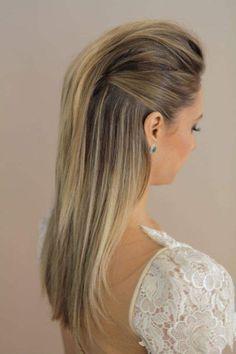 peinados elegante liso