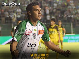 José Alfredo Castillo celebra el gol que le dio el triunfo a Oriente Petrolero sobre Destroyers - DaleOoo
