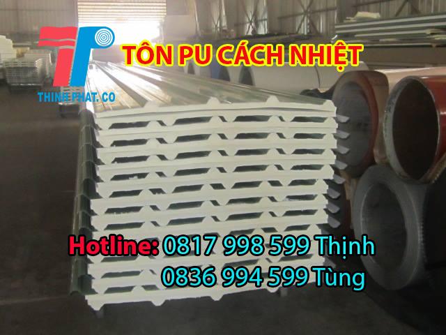 Tôn pu cách nhiệt chống nóng mái nhà xưởng