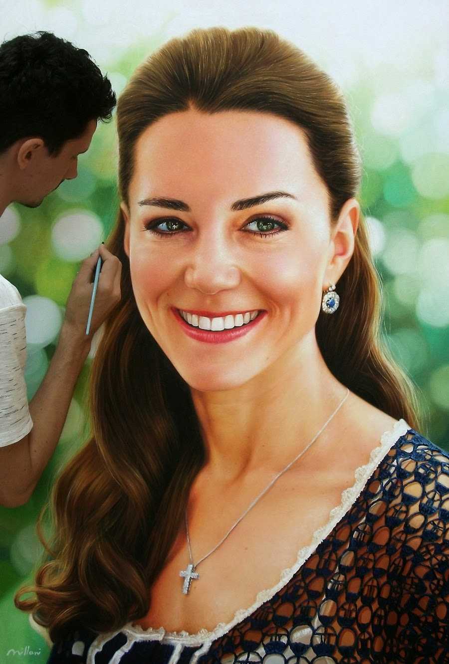 05-Kate-Middleton-Duchess-of-Cambridge-Fabiano-Milani-Paintings-that-Look-Hyper-Real-www-designstack-co