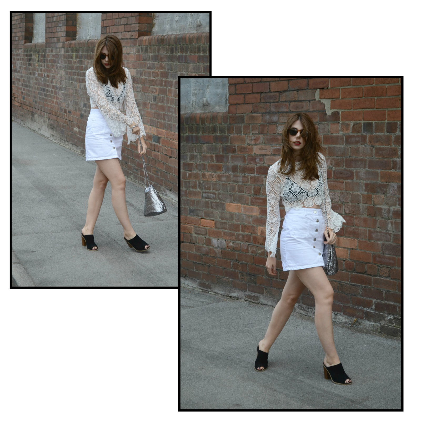 How to style an all white outfit ft Boohoo.com