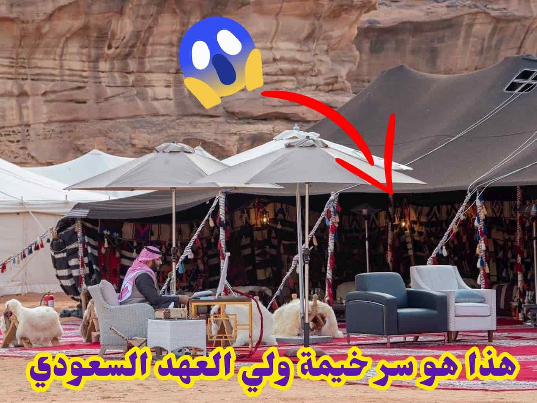 هذا هو سر خيمة ولي العهد السعودي الأمير محمد بن سلمان