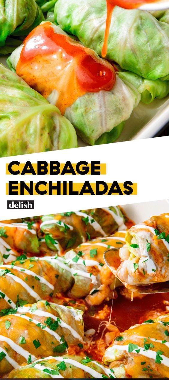Low-Carb Cabbage Enchiladas