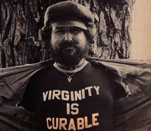 Virginity Is Curable vintage biker t-shirt.  PYGear.com