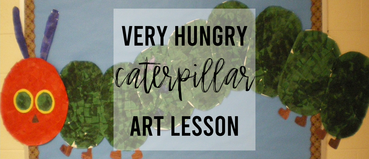 Kindergarten Very Hungry Caterpillar art activity in Eric Carle style #kindergarten #kindergartenart #ericcarle #veryhungrycaterpillar