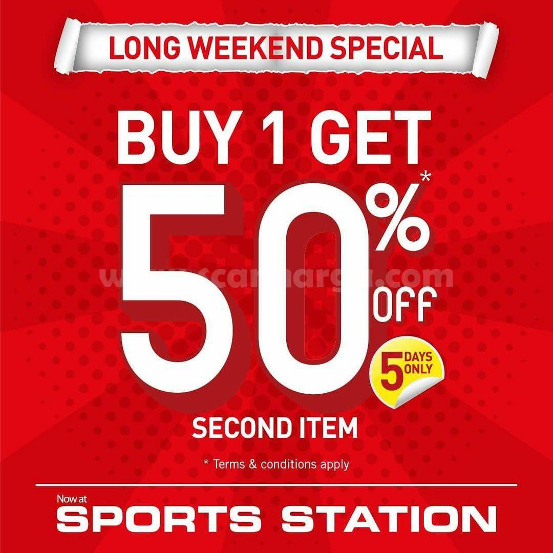 Sports Station Special Promo Long Weekend – Up to 50% pembelian ke Dua*