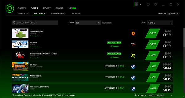 برنامج Razer Game Booster