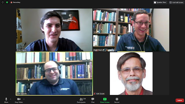 Screenshot of textual criticism webinar