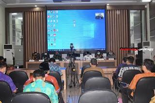 Dandim 0716/Demak Hadiri Evaluasi PPKM Mikro Bersama Forkopimda Kabupaten Demak