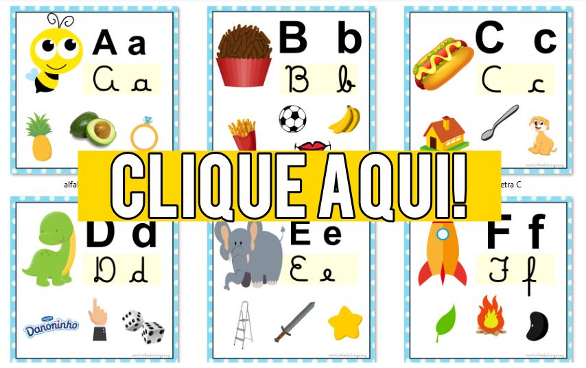 Alfabeto Colorido Para Imprimir Educacao Infantil E